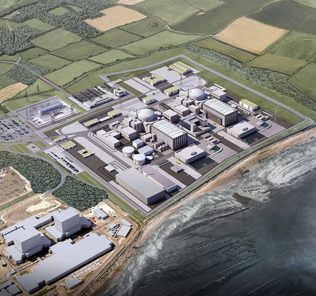 Aerial view of Hinkley Power Station