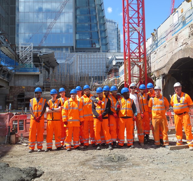 Costain staff at London Bridge Station Redevelopment