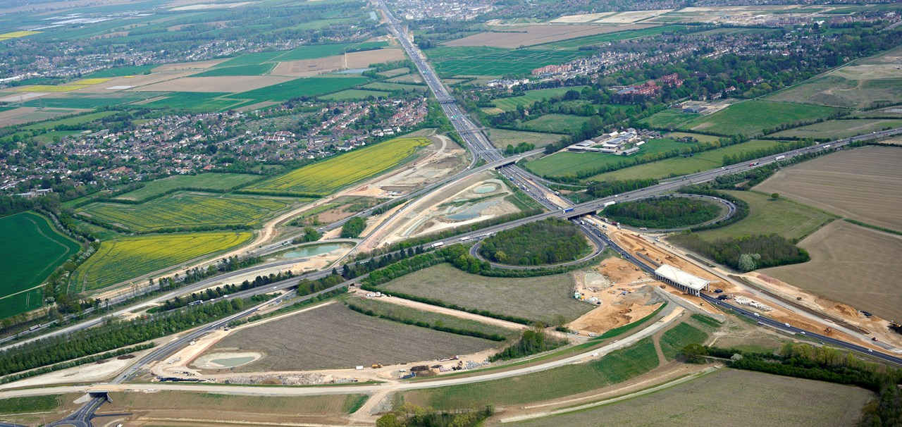 A14 Cambridge to Huntingdon improvement scheme honoured with highest recognition in construction