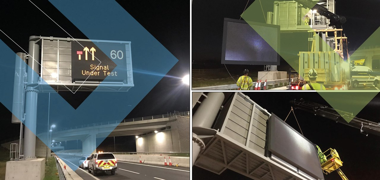 Costain and SWARCO first in the UK to develop and install next generation of digital road message signs